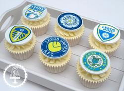 Leeds United Cupcakes (Edible Image)