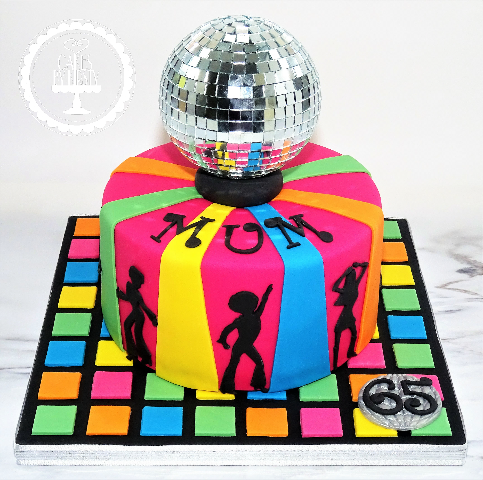 Discoball Dance Cake