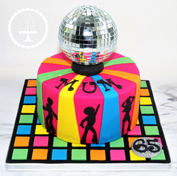 Discoball Dance Cake
