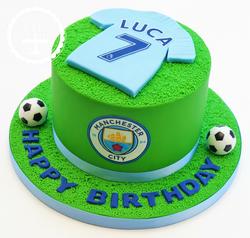 Man City Football Shirt Cake