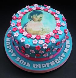 50th Blossom Cake