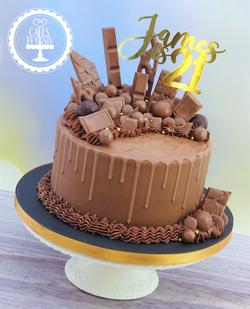 Chocolate Drip Cake for 21st Birthday