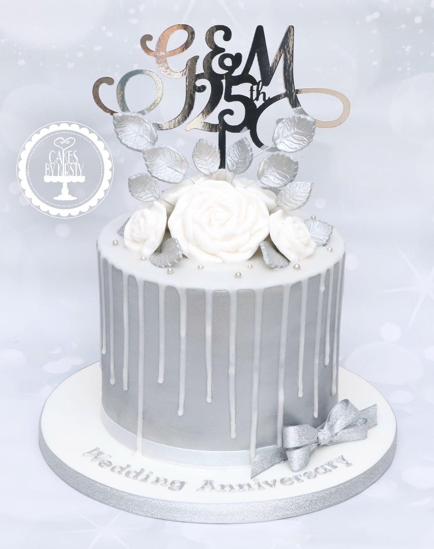20201211 - Silver Anniversary Drip Cake