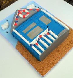 Beach Hut Anniversary Cake