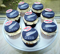 All Blacks Rugby Cupcakes