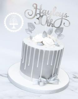 20200807 - Silver 30th Drip Cake