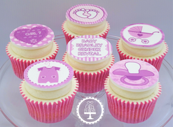 It's a Girl Baby Shower Cupcakes