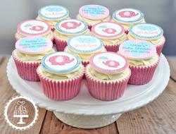 Elephant Baby Girl Cupcakes
