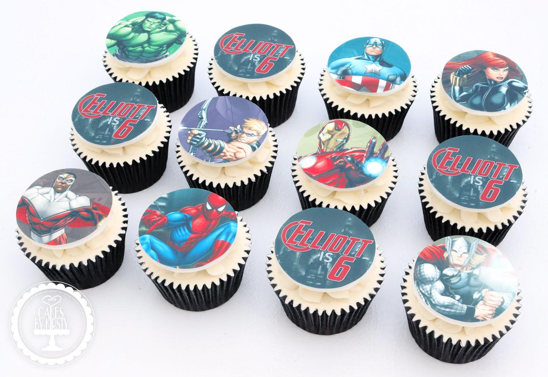 20200221 - Avengers Superhero Cupcakes