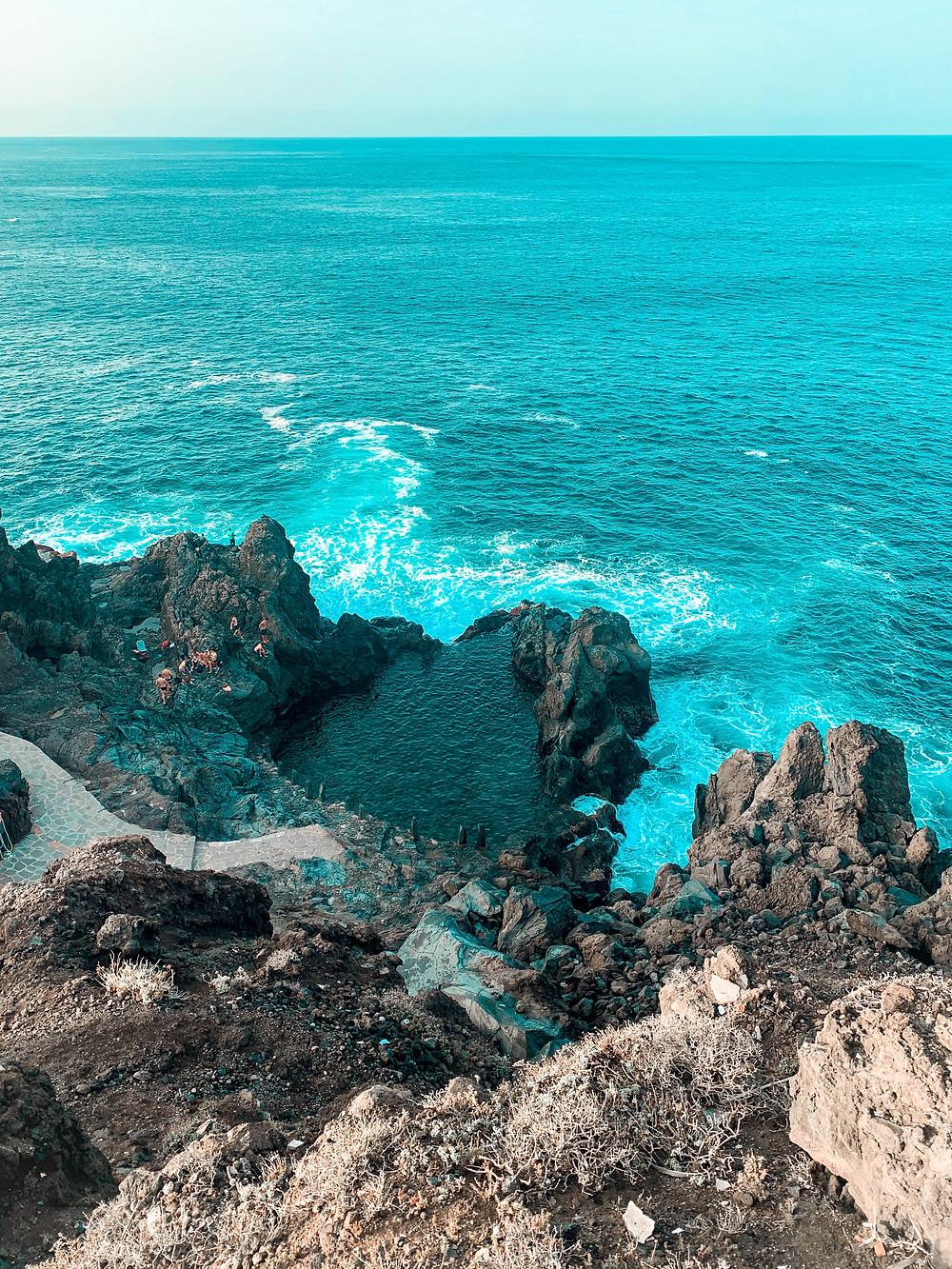 Charco de la Laja Tenerife Piscine naturelle