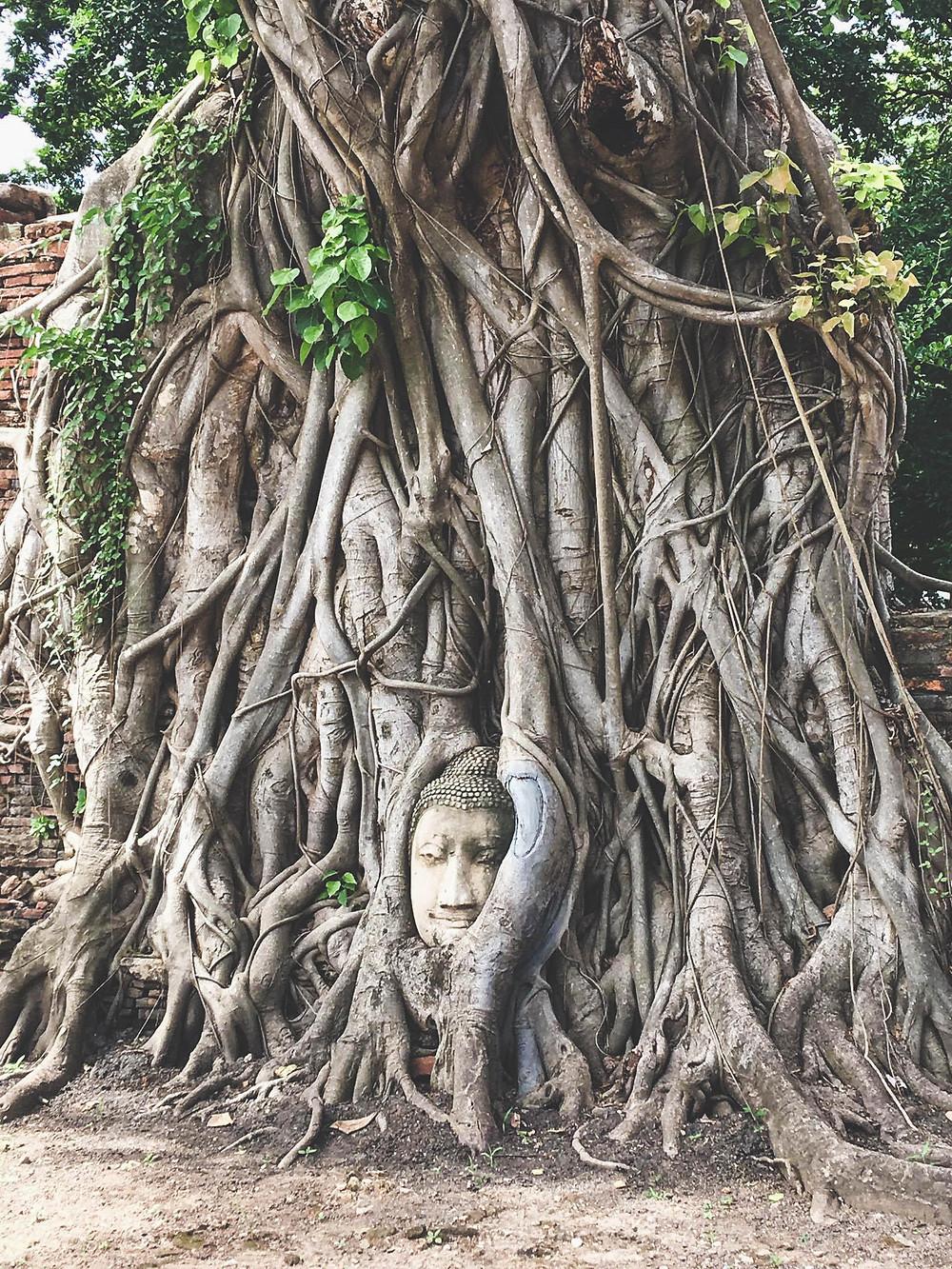 Temple d'Ayutthaya compris dans l'itinéraire