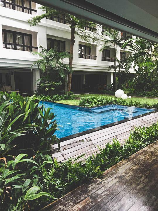 Piscine de l'Uma Residence à Bangkok Thailande