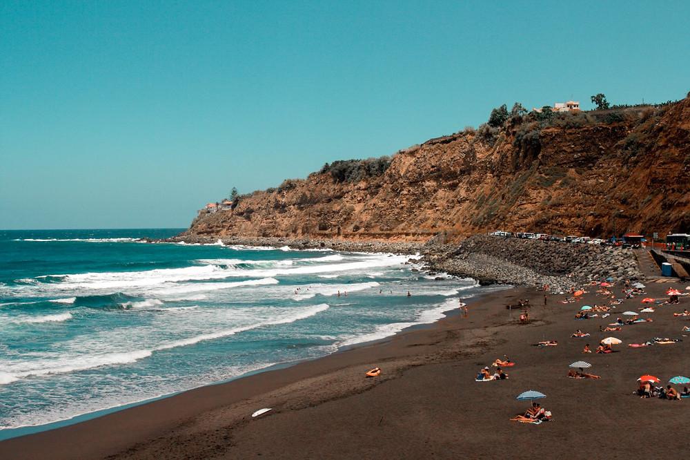 playa del socorro tenerife beach black sand volcano