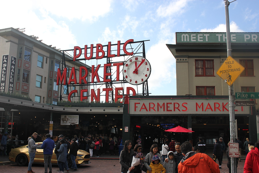 Marché de Pike Place Seattle America tourist