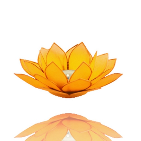 Porta velas- Flor de Lotus amarelo-Chakra Manipura