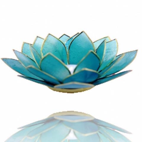 Porta velas- Flor de Lotus azul - Vishuda Chakra