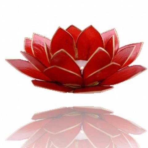 Porta velas-Flor de Lotus Vermelho-Chakra da Raiz