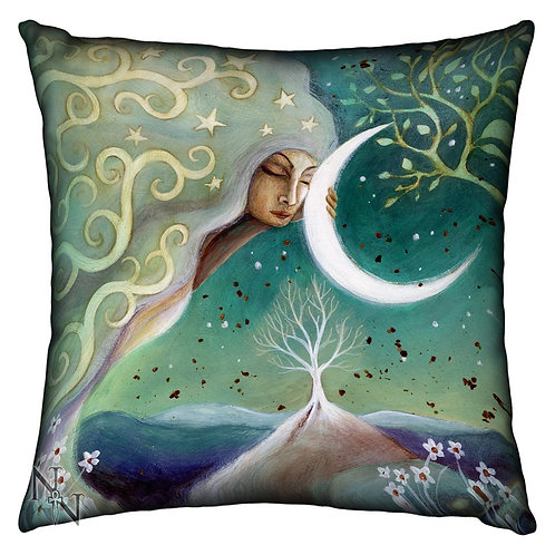 "Almofada ""Earth & Moon"" de Amanda Clark"