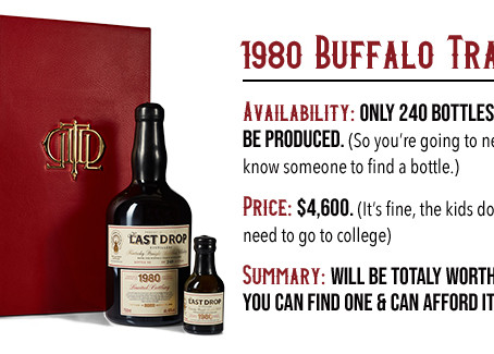 Last Drop Distillers Launch Limited 1980 Buffalo Trace