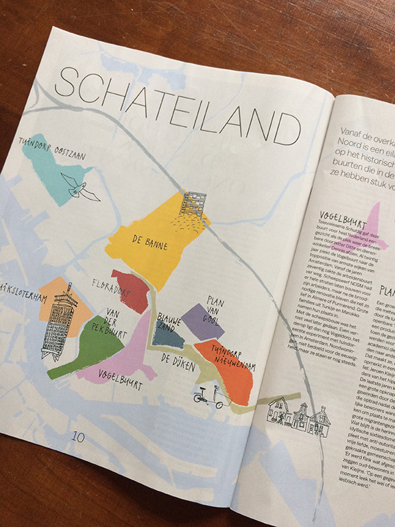 A map I drew for PS van de Week magazine, the weekly magazine of the newspaper Het Parool in Amsterdam, the Netherlands. - J'ai dessiné une carte pour le magazine PS van de Week, le magazine séminale de le quotidien Het Parool à Amsterdam.