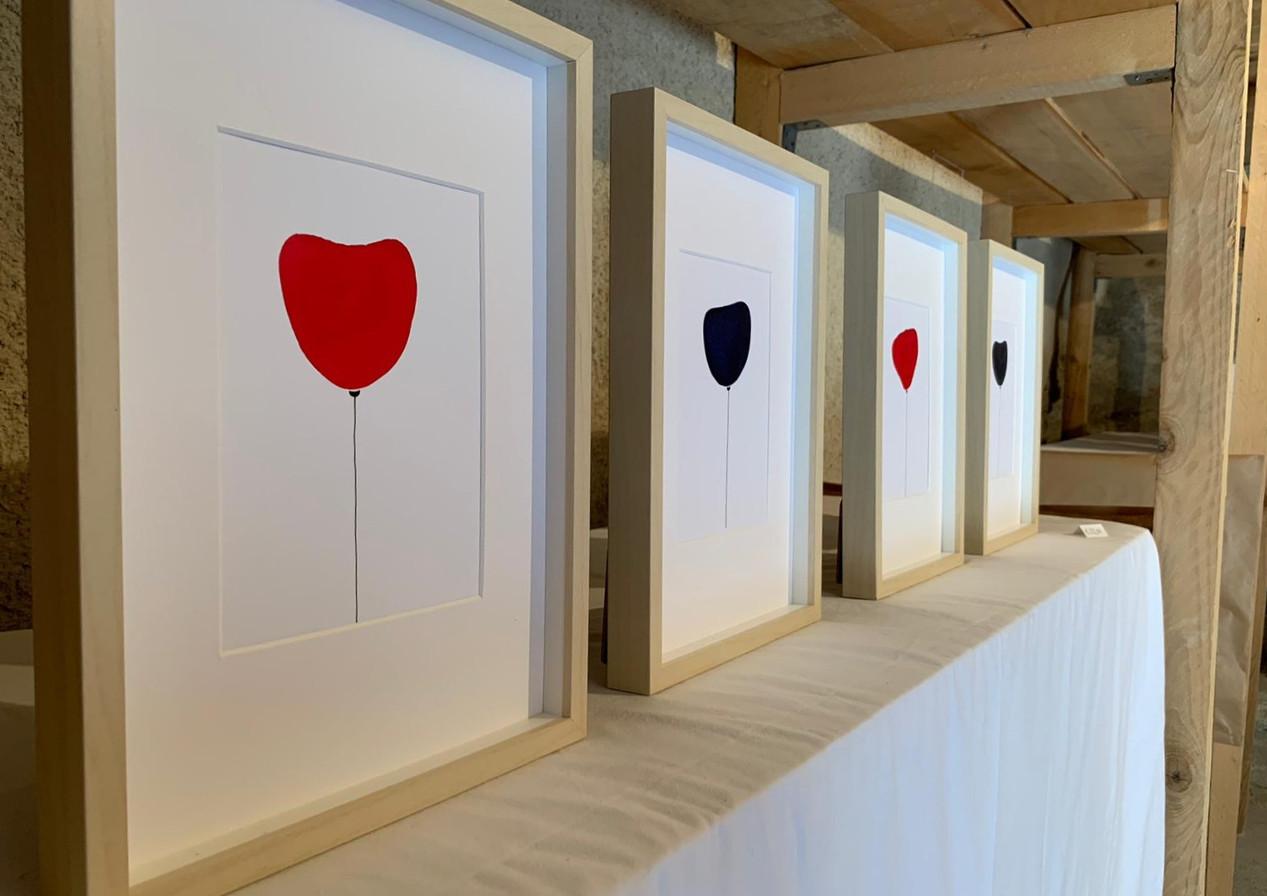 """Detail from my exhibition """"Parcours artistique"""" in Venterol. - Un détaille de mon expo """"Parcours artistique"""" à Venterol."""
