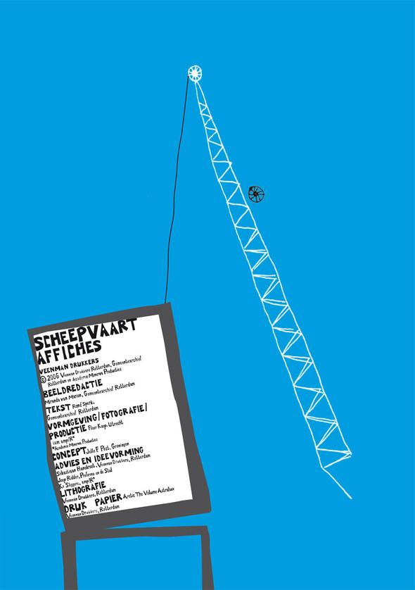 Affiche pour une expo sur les affiches de Rotterdam