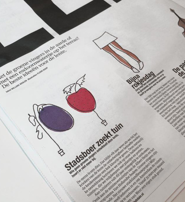 Illustrations I made for PS, the daily supplement of the newspaper Het Parool, in Amsterdam, The Netherlands. - Illustration j'ai fait pour le quotidien Het Parool.