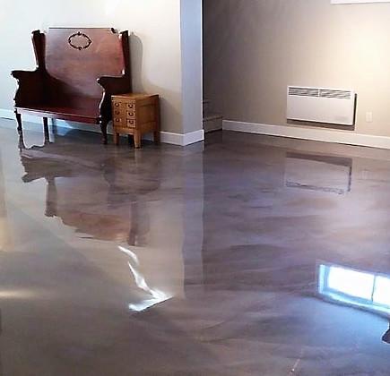Silver, white and gray metallic floor