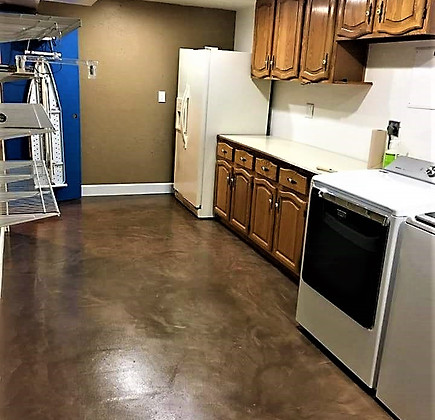 laundry room, expresso metallic with WB satin topcoat
