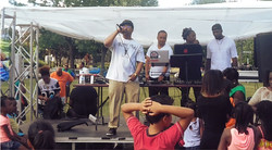 Real D Rapping On Stage