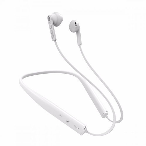URBANISTA MILAN Noise Cancelling Neckband Headphone Fluffy - White