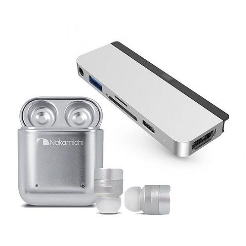買HyperDrive 6-in-1 USB-C Hub 送 Nakamichi TW1 PLUS 真無線藍牙耳機