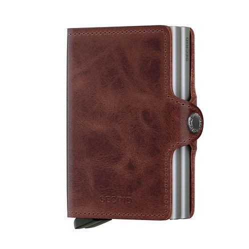 SECRID Twin Wallet Vintage - Brown
