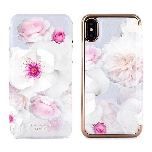 Ted Baker NALIBISE Mirror Folio Case for iPhone X – Chelsea 花卉側掀手機套