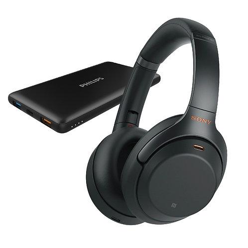 Sony WH1000XM3 無線降噪耳機 送 Philips DLP8611快速充電器10,000 mAh