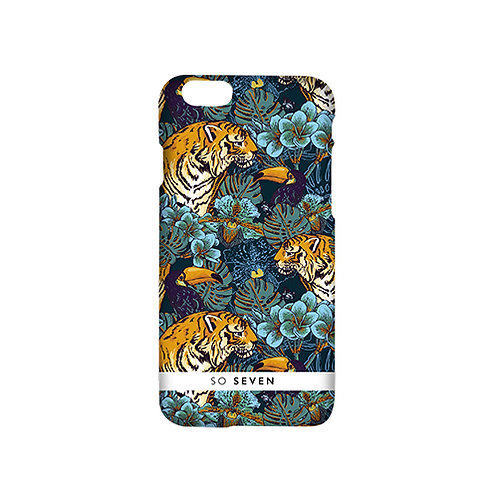 SO SEVEN JUGGLE CASE TIGER FLOWERS BLUE IPHONE 7&7 PLUS