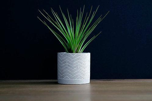 Concrete Planter - Chevron