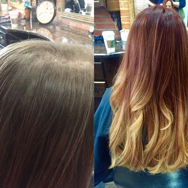 Loving this transformation!! #redkenchromatics #hairbysarahselby #giassalonbrighton