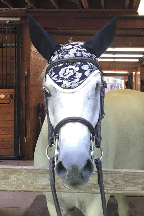 Black and White horse bonnet