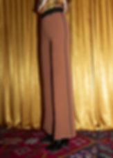 pantalone marrone donna