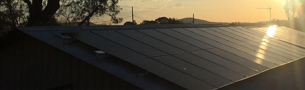 Solar Panel Dusk