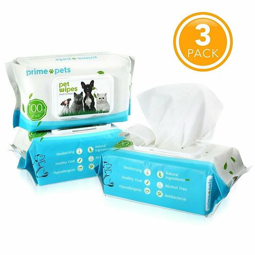 3 Pack Pet Wipes (300CT)