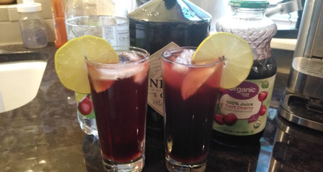 The Grumpy Dingo Radio Cherry Lime Gin Rickey