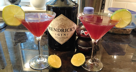 The Grumpy Dingo Radio Gin Pomegranate Gimlet
