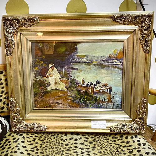 Bild (Druck) von Monet / toller Bilderrahmen