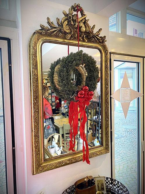 Blattgold besetzter Barock-Spiegel mit passender Konsole