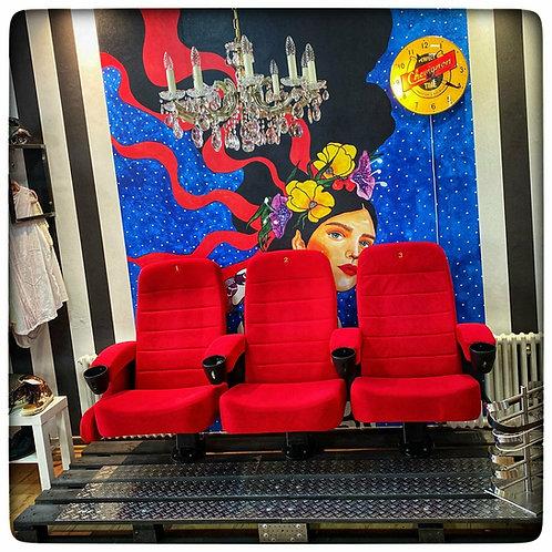 Vintage-Einzelstück! Kinosessel-Sitzgruppe (3er)