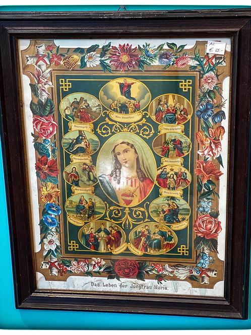 Alter Kunstdruck - Das Leben der Jungfrau Maria - um 1900