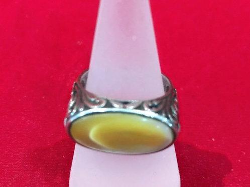 Ring, Silber, floraler Jugendstil