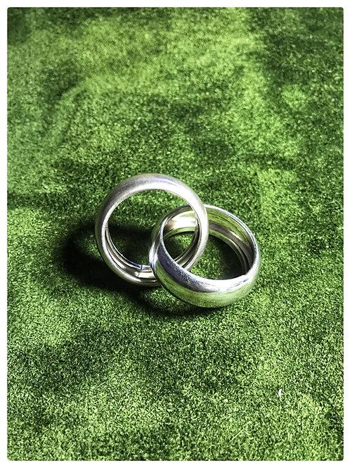 Designer-Ring, doppelt, Silber